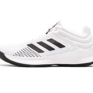 adidas Pro Spark Low 2018 White Black Men AP9838